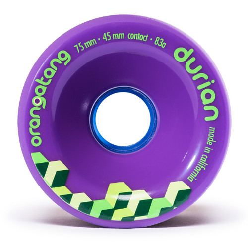 Orangatang Durian 75mm 83a Purple Longboard Skateboard Wheels