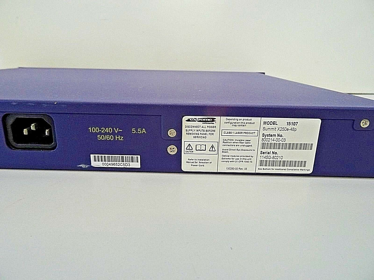 Extreme Networks Summit X250e-48p 48-Port Gigabit Switch PoE