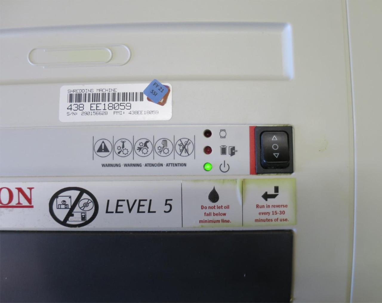 #2 Level 5 High Security Shredder (paper only) HSM 125.2