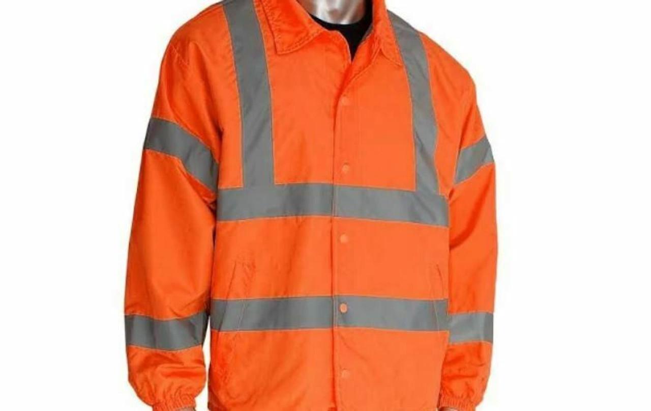 PIP Safety Gear Premium ANSI Class 3  Hi-Vis Wind Breaker Jacket