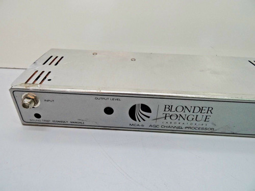 BLONDER TONGUE MCA-b Single Channel VHF/FM Strip Amplifier Processor 4454
