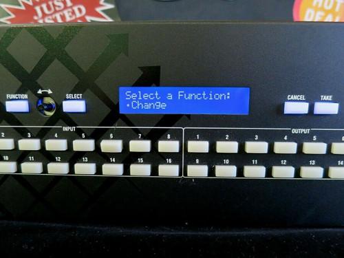 Optima SD Matrix Video Switch AMX AVS-OP-1616-560SD (Unit 2)