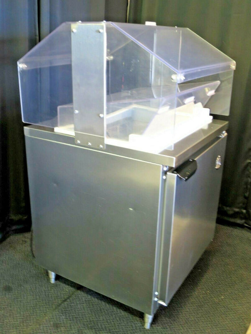 "Beverage Air 27"" Refrigerated Prep Table - Condiments Station W/ Sneeze Guard"