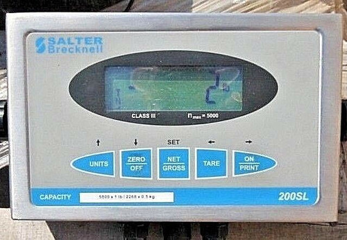 Floor Scale With Indicator -5000 LBS X 1 LB Salter DCSB4848-05 NTEP 4' x 4' NEW