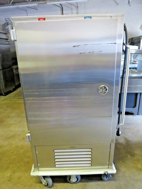 A la Cart Dual Temp 120 20-Tray Stainless Steel Meal Delivery Cart
