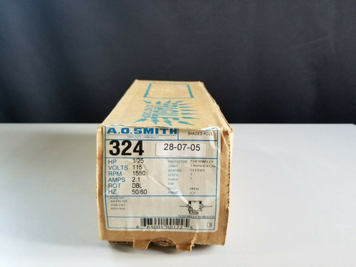 3.3″ DIA. MOTOR, 1/25 HP, 115 VOLT, 1550 RPM AO Smith 324 Motor