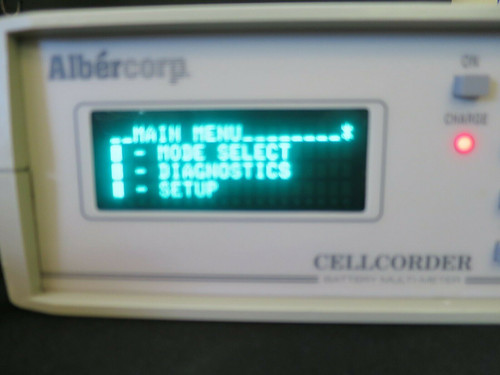 Data Storing Battery Multimeter Albercorp Cellcorder 1000-021 CLC200