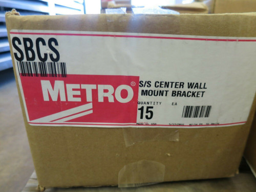 Metro Super Erecta BCS Stainless Center Wall Mount Bracket Qty-15