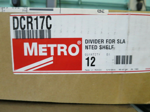 "Metro DCR17C  Super Erecta 17"" Chrome Slanted Shelf Dividers Qty-12"