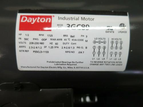 Dayton Industrial Motor 3GC89 P55CLD-1133