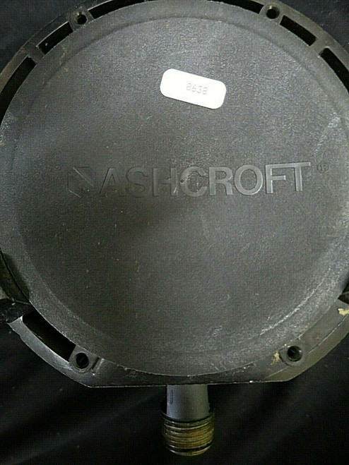 "ASHCROFT BRONZE PRESSURE GAUGE 451379AS 04L  0-60 PSI 4-1/2"" DIA 1/2"" NPT"