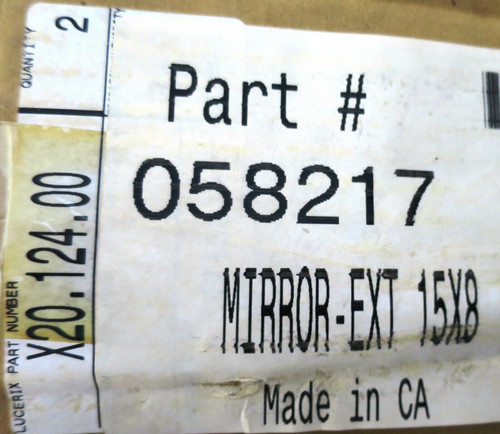 """Lucerix mirror 15"""" X 8""""  NEW"""
