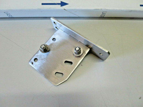 """Solid Stainless Steel 46"""" Tray Slide With Fold-Down Mounting Brackets"""