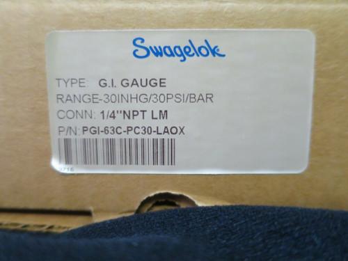 Swagelok G.I. Pressure Gauge PGI-63C-PG30-LAOX