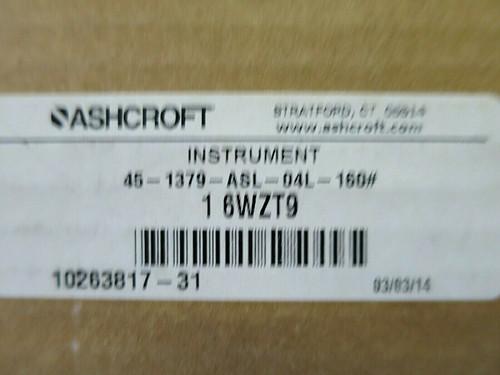 "Ashcroft 4-1/2"" Process Pressure Gauge 6WZT9"