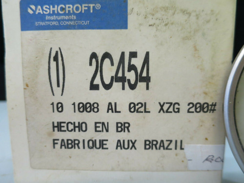 ASHCROFT 2C454 PRESSURE GAUGE LIQUID FILLED