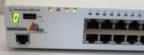 Alcatel-Lucent OS6850-24L Omni Switch 24-Port with (2) 126 W Power suppy