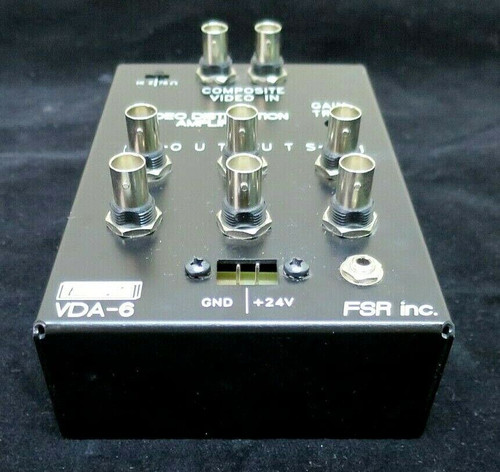 2x6 Video Distribution Amplifier FSR Inc. EZ VDA-6