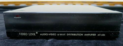 Zantech Video Link Audio/Video 6 Way Distribution Amplifier AV-426