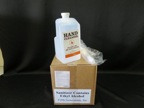 Liquid Hand Sanitizer Fifth Generations, Inc. 1/2 gallon pumps (Lot of 4) 256 oz