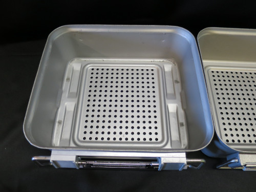 "Lot of 3 V. Mueller Genesis Sterilization Container Bottoms Only 5"" HalfLength"