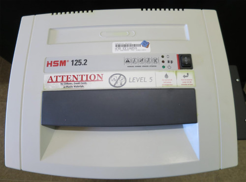 #2 Level 5 High Security Shredder (paper only) HSM 125.2