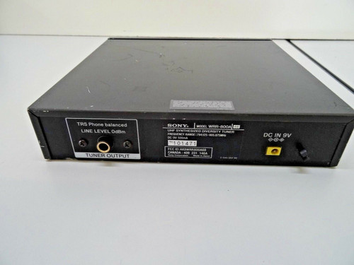 Sony UHF Synthesized Diversity Tuner WRR-800