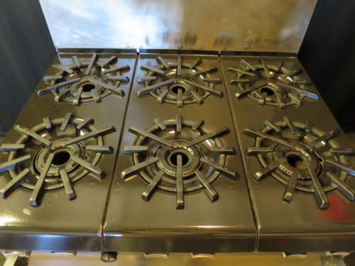 Vulcan Natural Gas 6-Burner Stove Range W/ Standard Oven #2