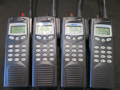 4 MACOM HARRIS/TYCO  P7100 IP Portable 2-Way Radios