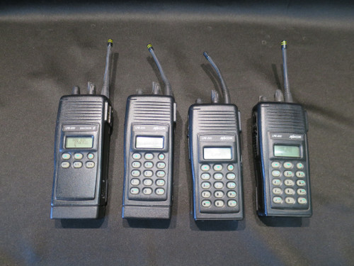 4 MACOM HARRIS/ERICSSON LPE-200 Portable 2-Way Radios