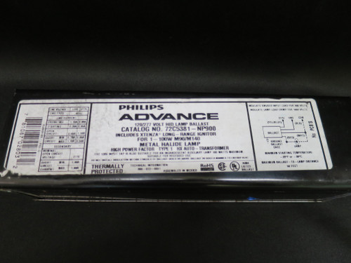 Philips Advance 72C5381NP900 Magnetic F-Can Ballast, Metal Halide, 100W, 120-277
