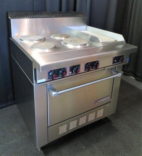 """Garland 36"""" Sealed 4-Burner / Griddle Electric  Range with Standard Oven SS686"""
