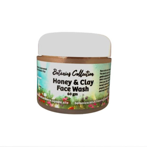 60-gram jar of chemical free face scrub and cleanser
