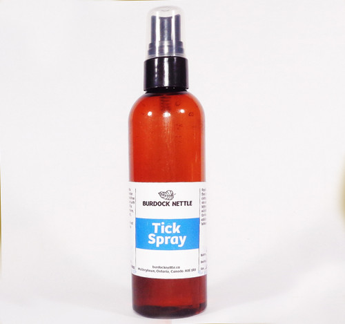118 ml bottle of natural tick spray, bug repellent that is chemical-free