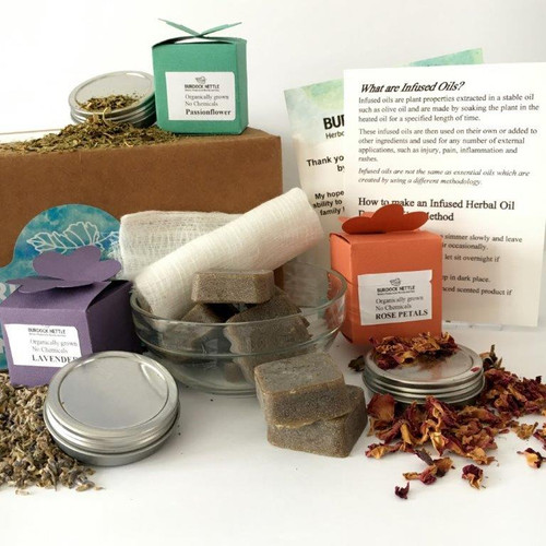 DIY - kit with the herbs and instructions to make infused oil and salves