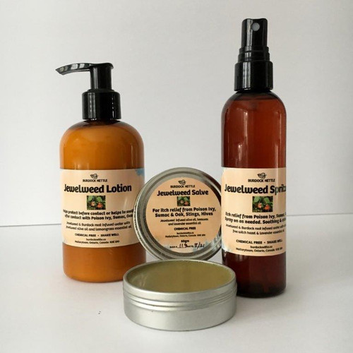 Three pack of salve, lotion and spritzer. Natural antidote to poison ivy, poison sumac, poison oak