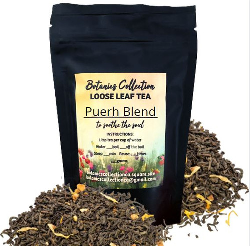 A delightful blend of Pu-erh, Rooibos and ginger