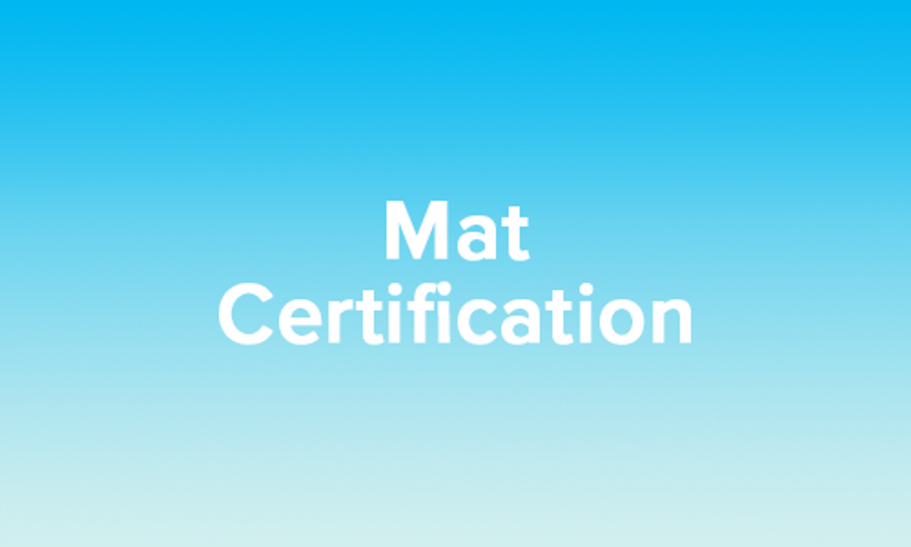 Basic Mat Certification - Virtual Training - January 23, 2021-February 07, 2021