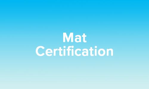 Basic Mat Certification - Virtual Training - January 15-30, 2022