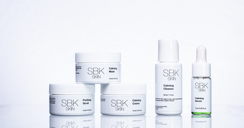 TSA friendly skincare kit that focuses on helping you bring calm to irritated and sensitive skin by providing barrier and moisture.