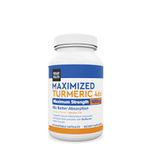 Maximized Turmeric 46x contains curcuminoids, bioactive pigments that give turmeric its bright orange color. Curcuminoids have antioxidant attributes, traditionally used in Ayurvedic medicine to support digestive health, liver health, and skin health.  CurcurwinTM is 46 times more bioavailable than 95% curcuminoid standardized extract  Supports digestive health, liver health, healthy aging, urogenital health, and skin health Supports pain management 100% plant-based