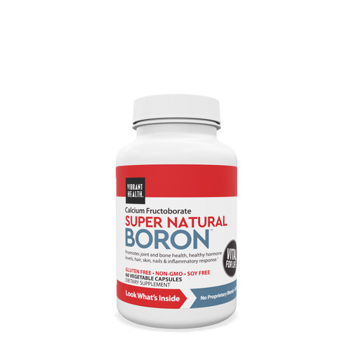 Boron has been found to play a key role in the regulation of hormonal vitamin D and testosterone. Super Natural Boron comes from calcium fructoborate, a form bioidentical to that found in plants. Calcium fructoborate is natural, safe, and highly bioavailable.  Calcium fructoborate is a clinically backed trademarked ingredient that is bioidentical to plants Helps support bone and joint health Supports integrity of connective tissue Supports in balancing hormone levels Organic broccoli powder has antioxidant and anti-inflammatory properties and contains vitamins, minerals, and fiber
