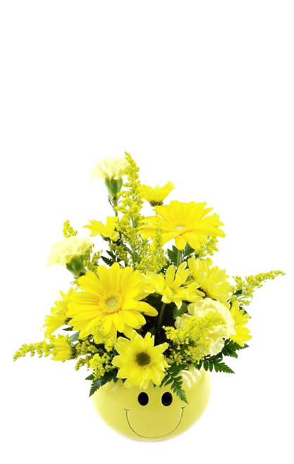 Flower Smiley Face Arrangement