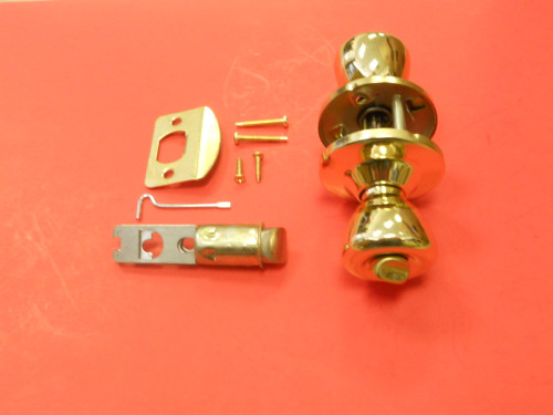 Mobile Home Interior Locking Privacy Door Knob Polished Brass (Gold colored)