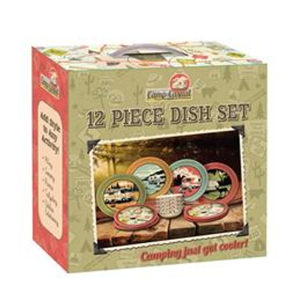 MELAMINE DISH SET 12/PC