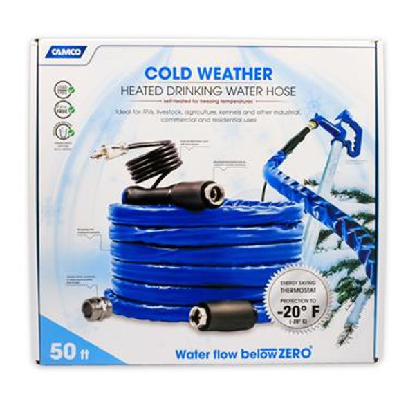 Camco 50' TastePure Heated Drinking Water Hose