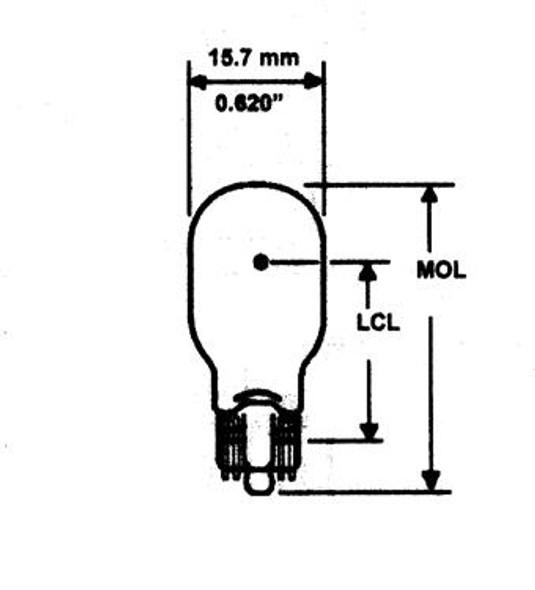 921 Clear Bulb; Box of 10