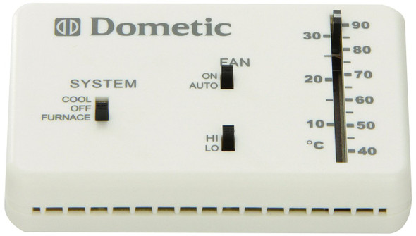 Dometic Duo Therm Heat Cool Furnace Thermostat Analog 3106995.032
