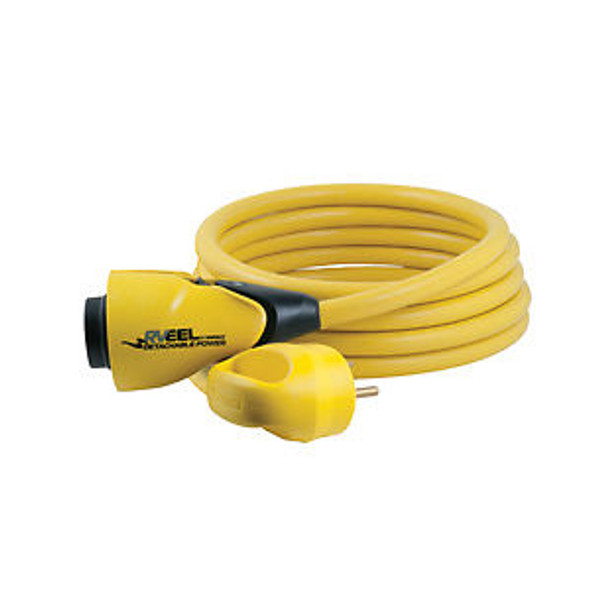 30A 125V 25' RV CORDSET - FEMALE LOCKING TO MALE 3-WIRE