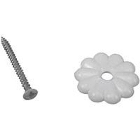 White Rosettes&Rosette Screws 40/50 Mobile Home and RV